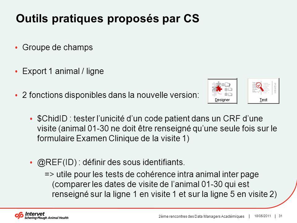 Outils pratiques proposés par CS