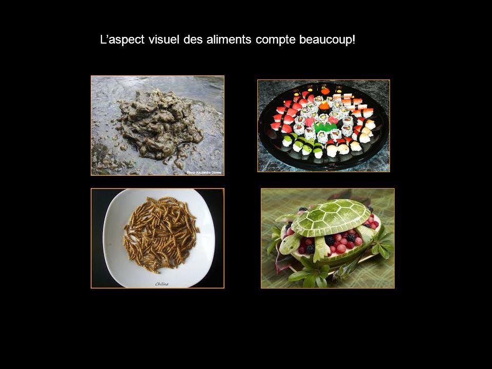 L'aspect visuel des aliments compte beaucoup!