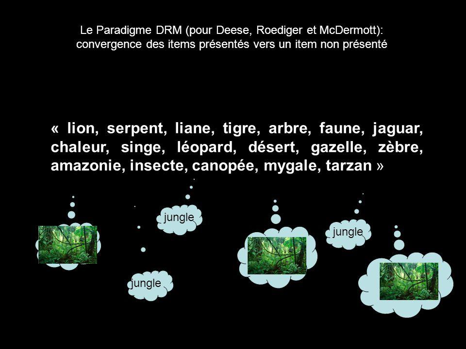 Le Paradigme DRM (pour Deese, Roediger et McDermott):