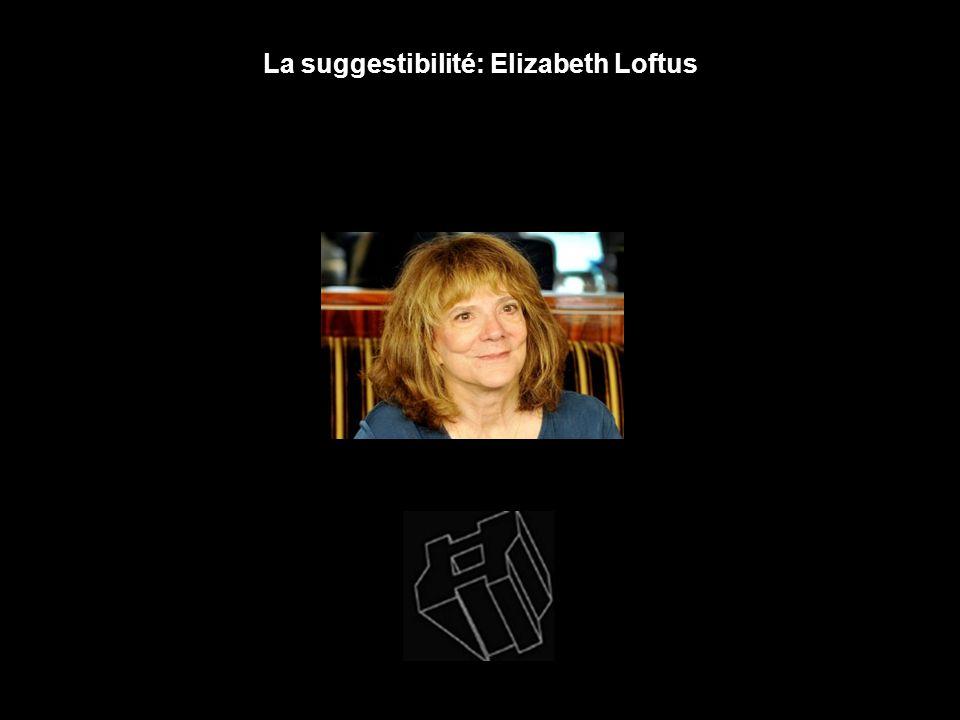 La suggestibilité: Elizabeth Loftus