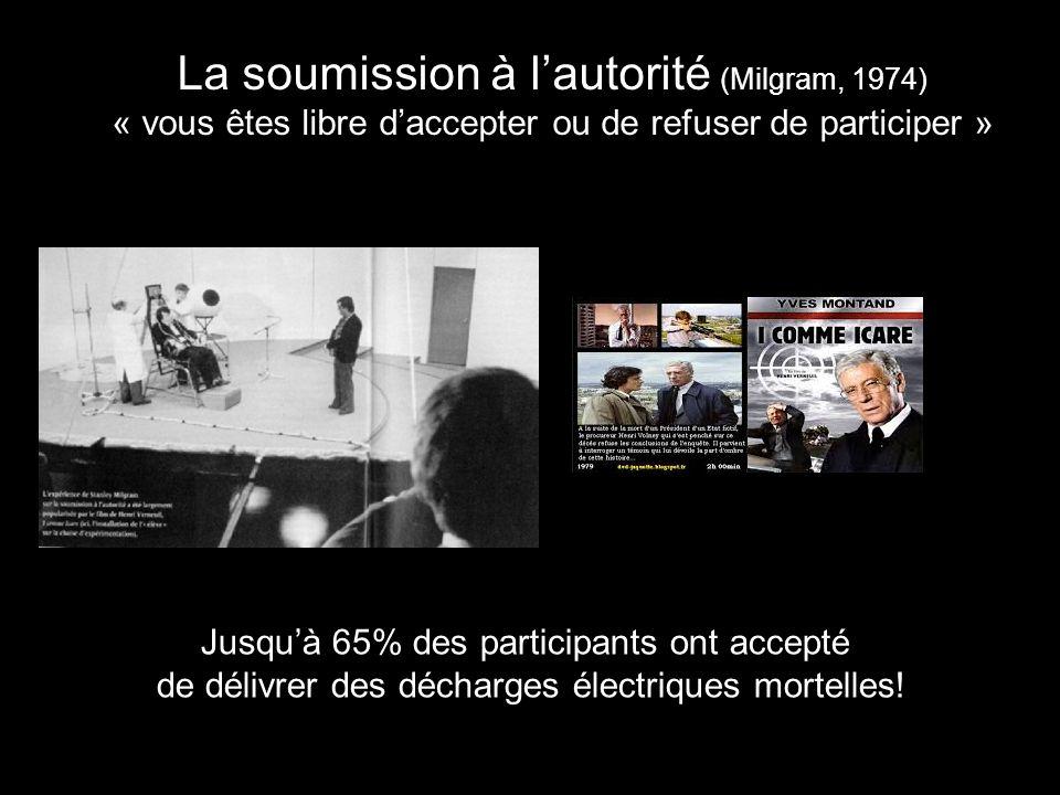 La soumission à l'autorité (Milgram, 1974)