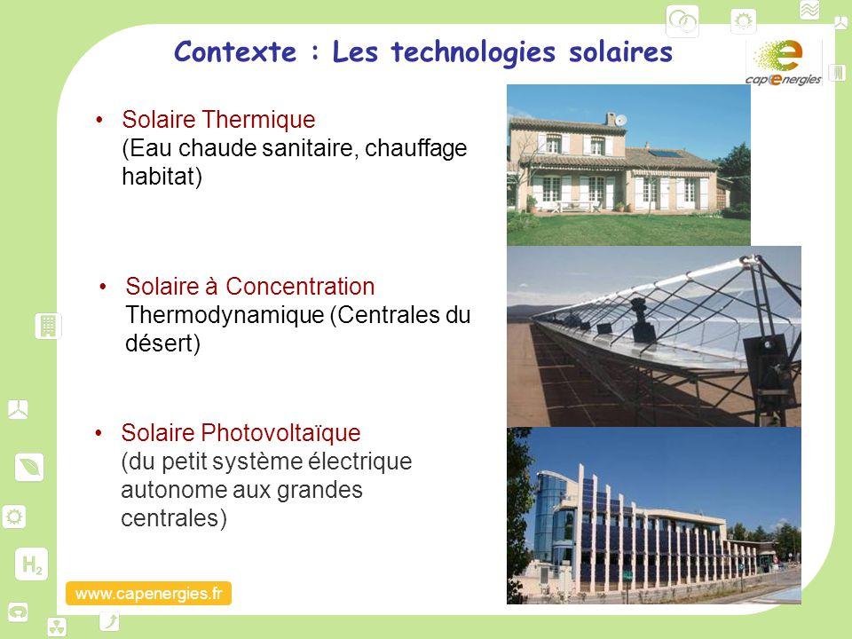 Contexte : Les technologies solaires