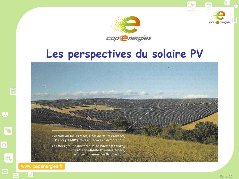 Les perspectives du solaire PV