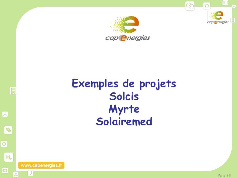 Exemples de projets Solcis Myrte Solairemed