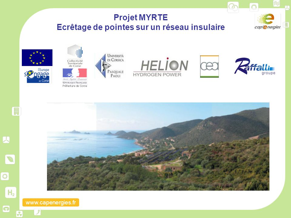 Projet MYRTE Ecrêtage de pointes sur un réseau insulaire