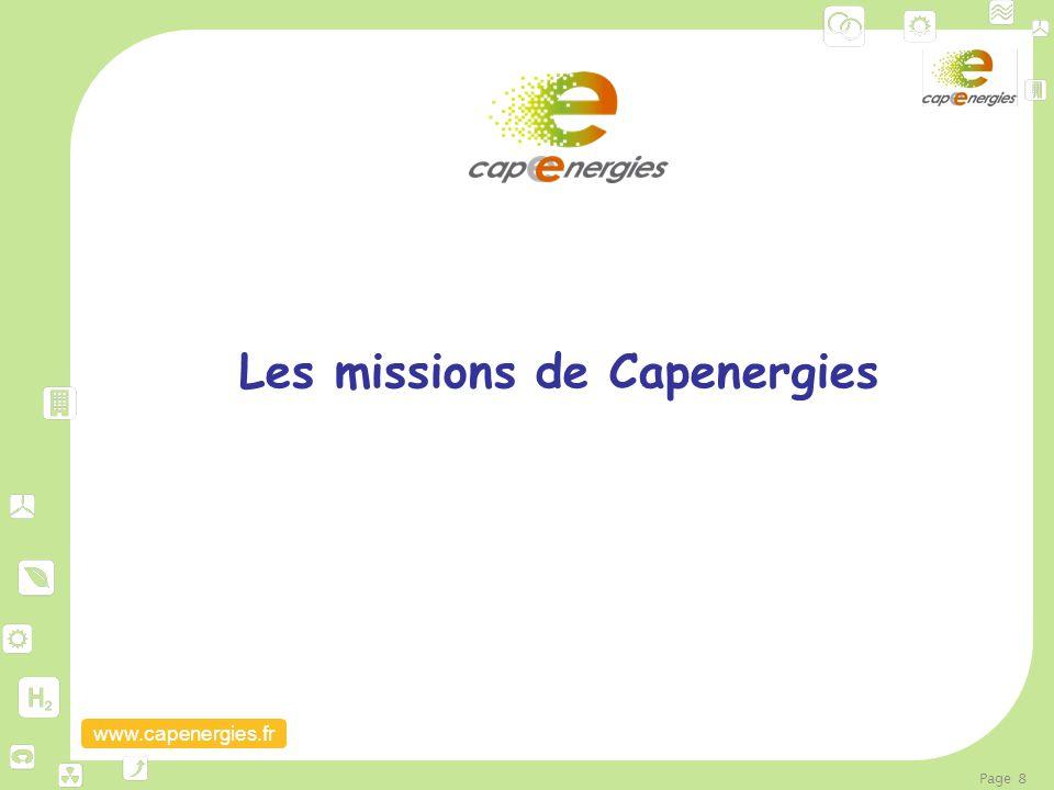 Les missions de Capenergies