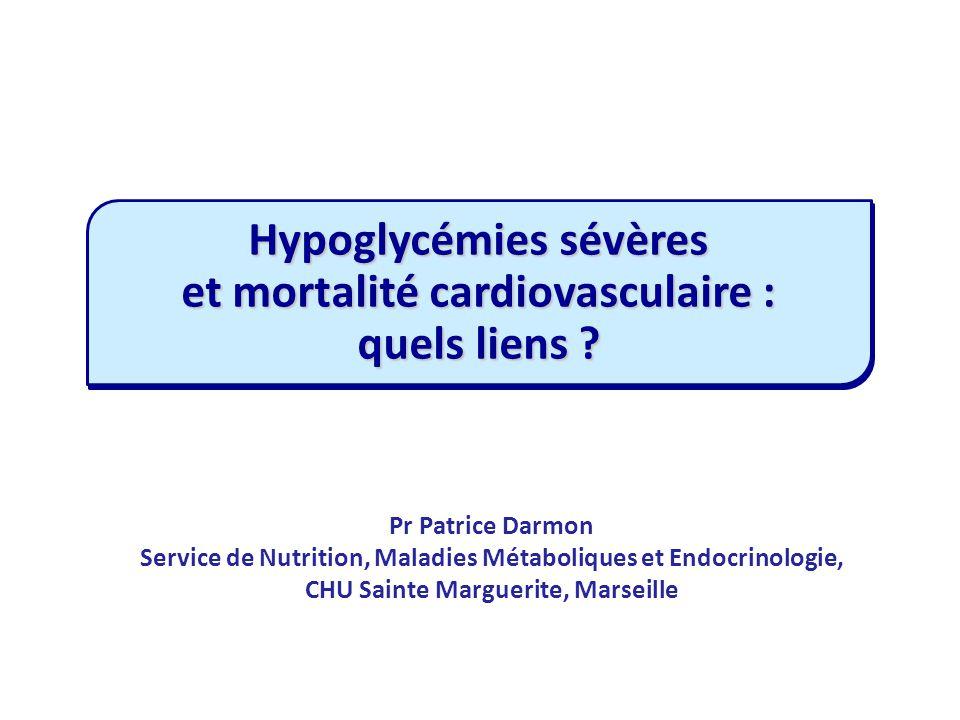 Hypoglycémies sévères et mortalité cardiovasculaire : quels liens