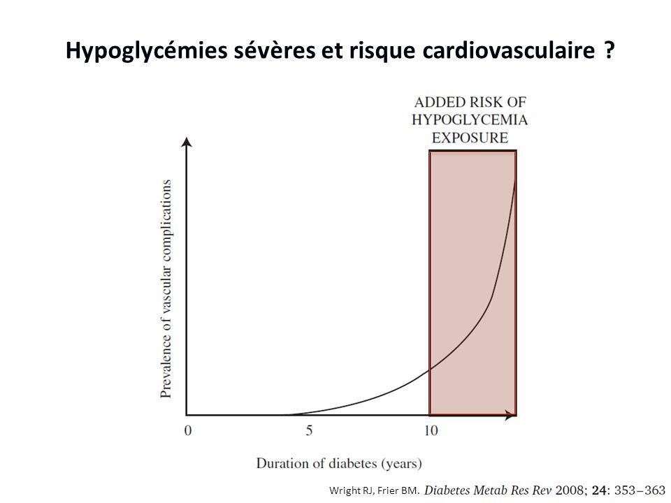 Hypoglycémies sévères et risque cardiovasculaire
