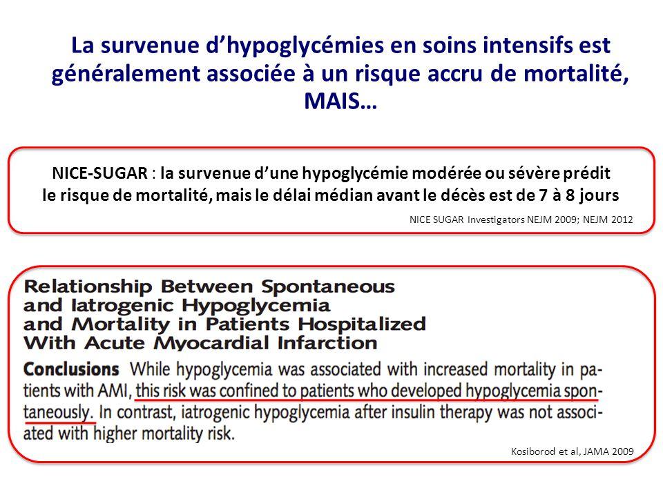 NICE-SUGAR : la survenue d'une hypoglycémie modérée ou sévère prédit