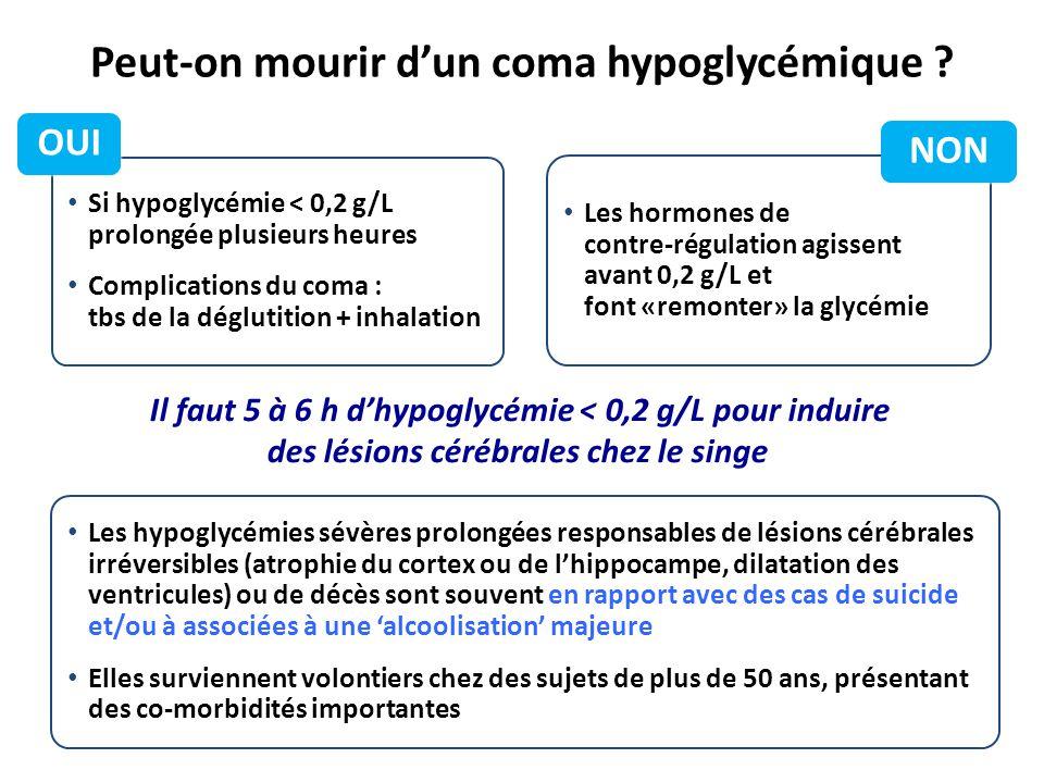 Peut-on mourir d'un coma hypoglycémique