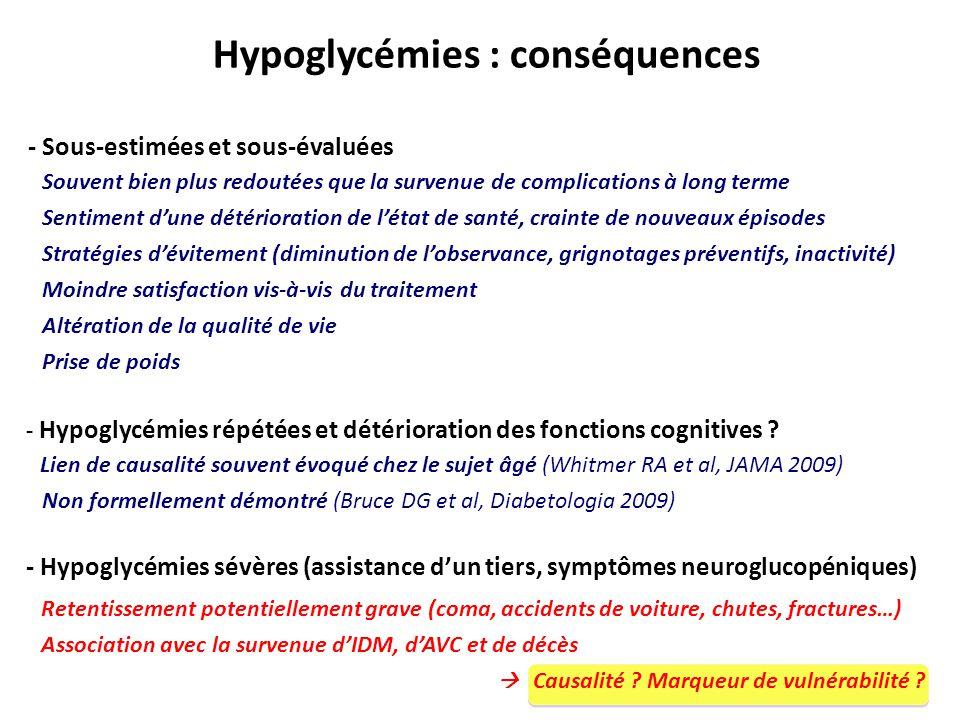 Hypoglycémies : conséquences