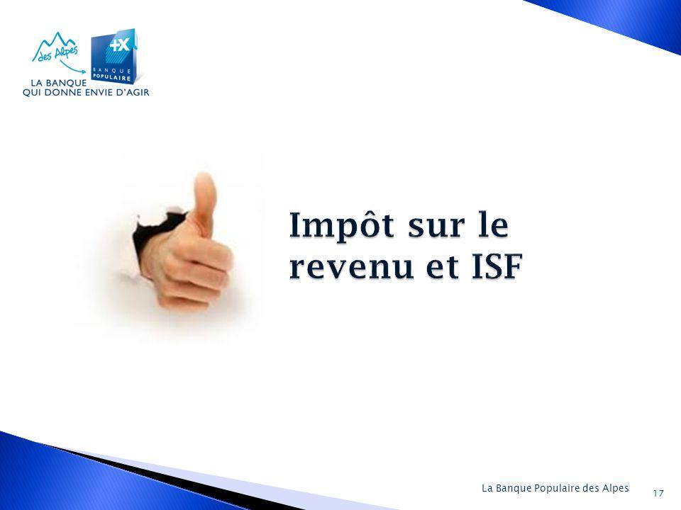 Impôt sur le revenu et ISF