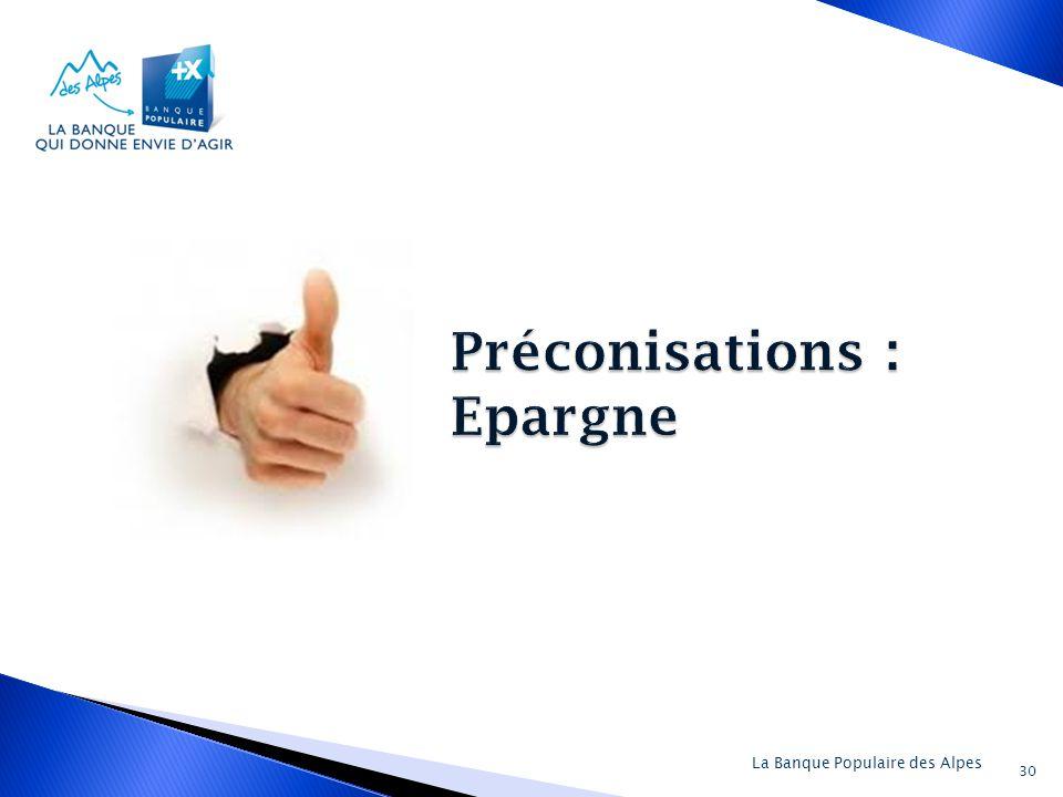 Préconisations : Epargne