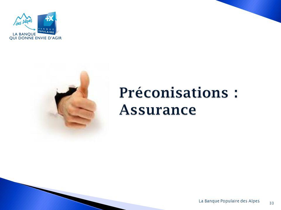 Préconisations : Assurance