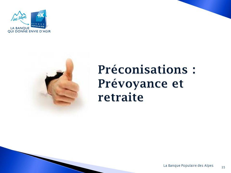 Préconisations : Prévoyance et retraite