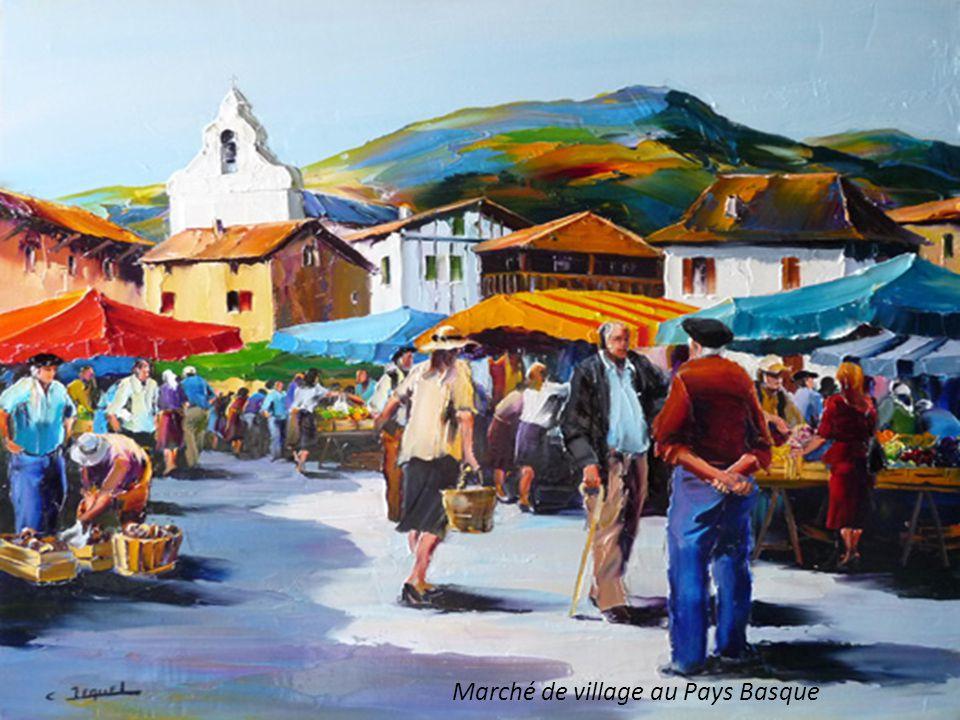 Marché de village au Pays Basque