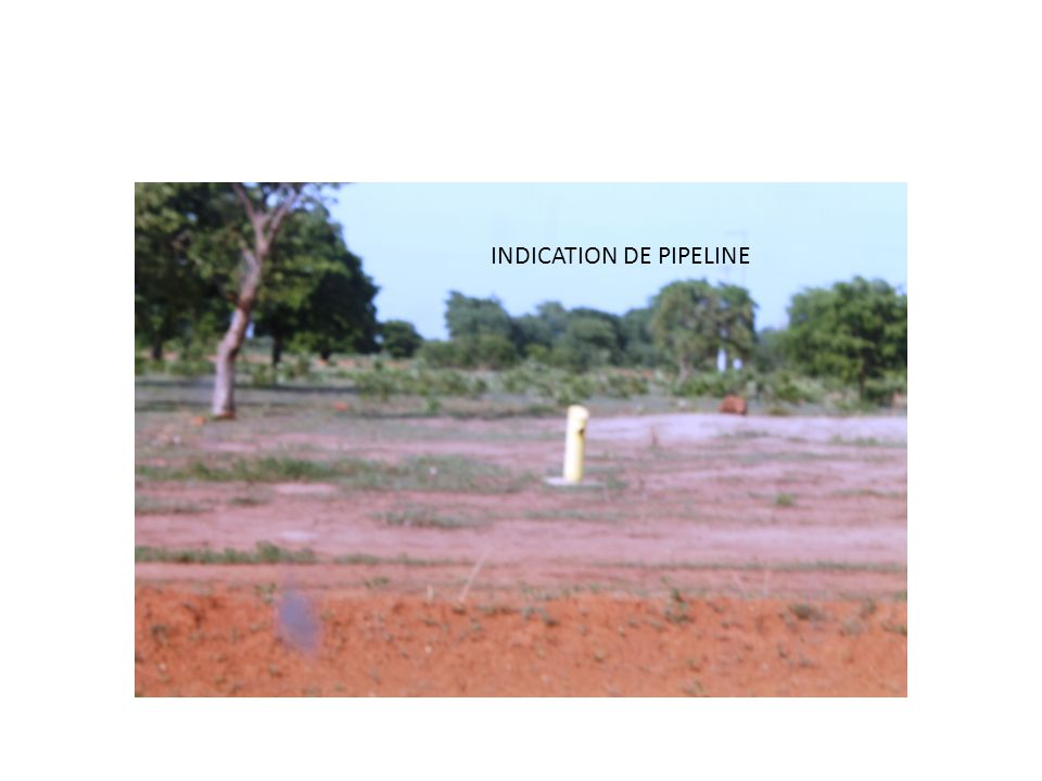 INDICATION DE PIPELINE