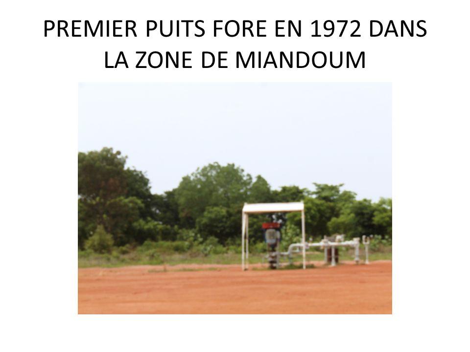 PREMIER PUITS FORE EN 1972 DANS LA ZONE DE MIANDOUM