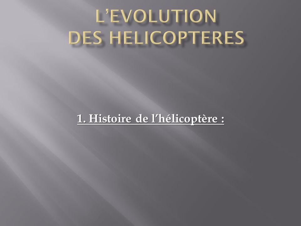 L'EVOLUTION DES HELICOPTERES