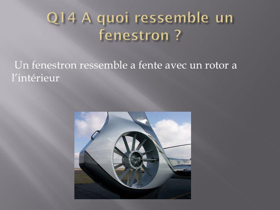 Q14 A quoi ressemble un fenestron