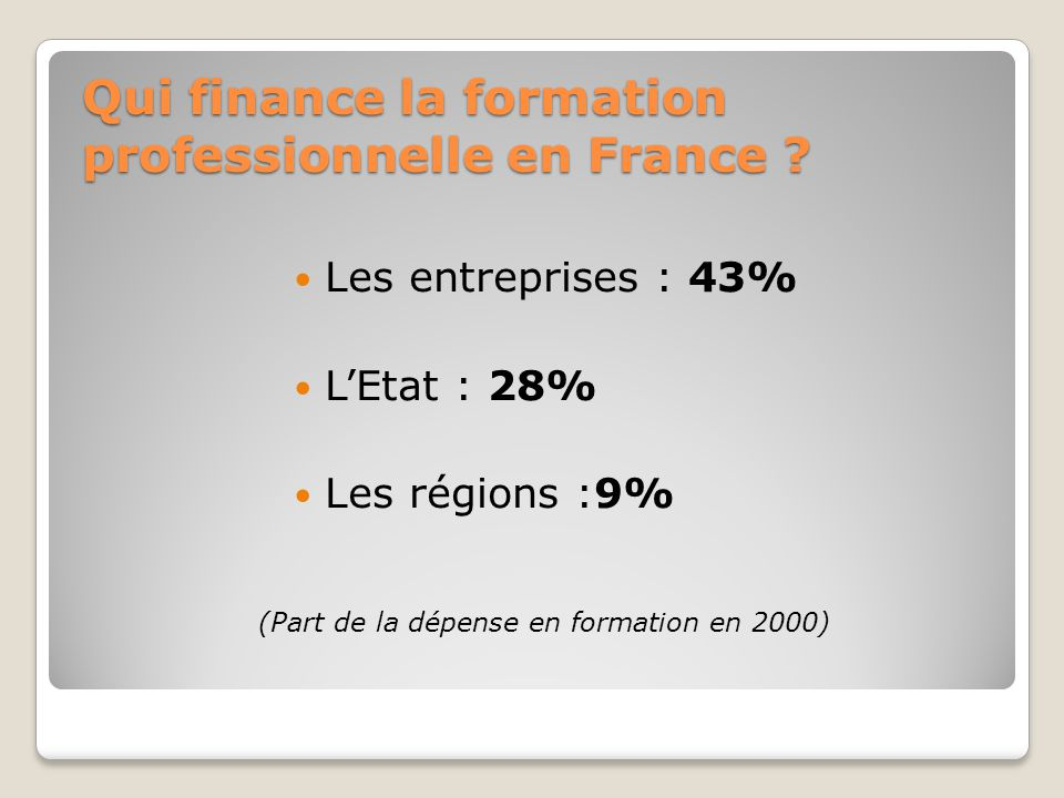 Qui finance la formation professionnelle en France