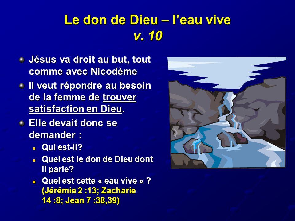 Le don de Dieu – l'eau vive v. 10