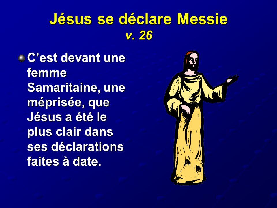 Jésus se déclare Messie v. 26