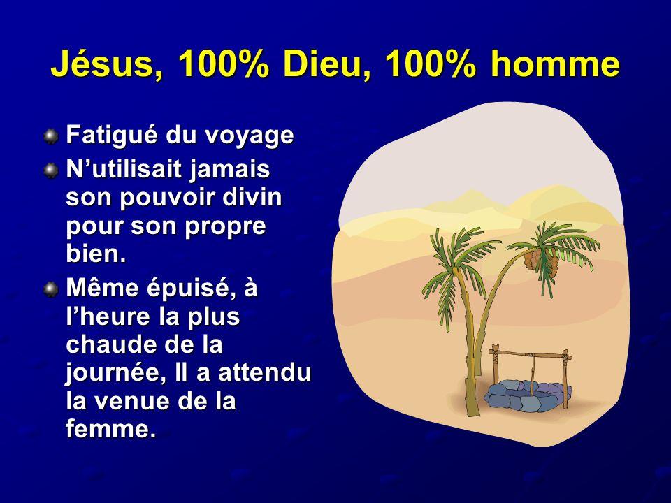 Jésus, 100% Dieu, 100% homme Fatigué du voyage