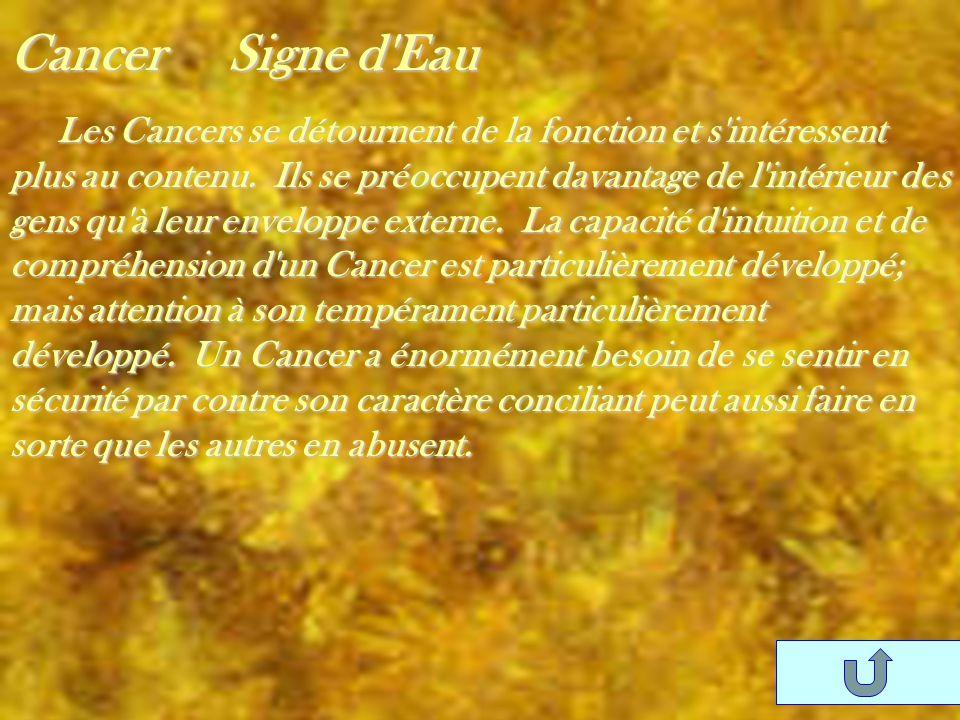 Cancer Signe d Eau