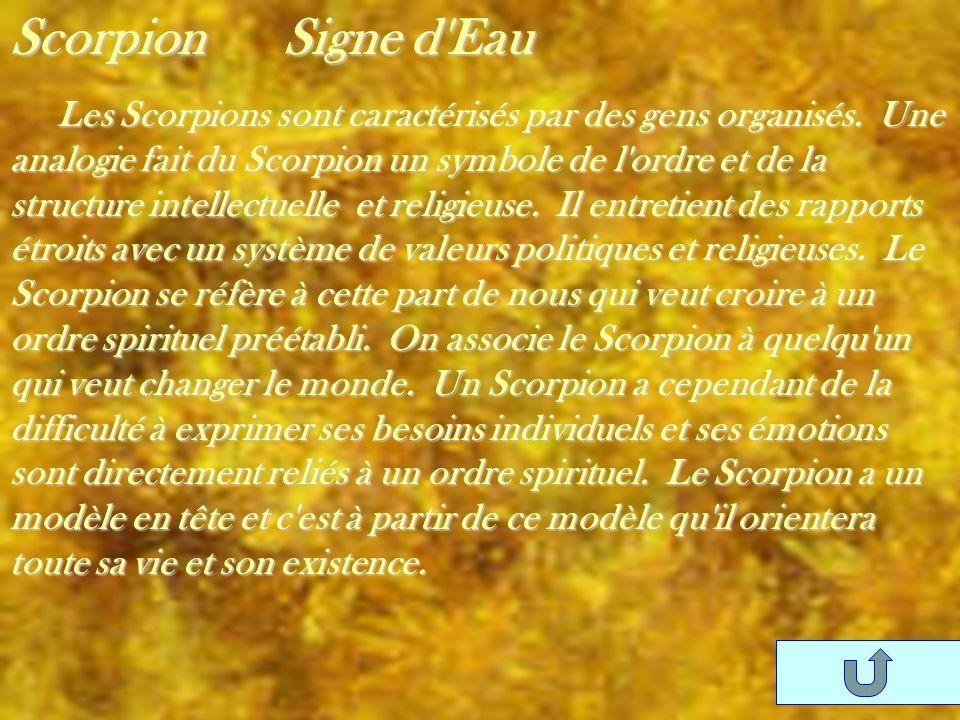 Scorpion Signe d Eau