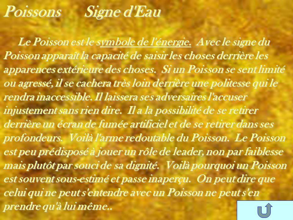 Poissons Signe d Eau