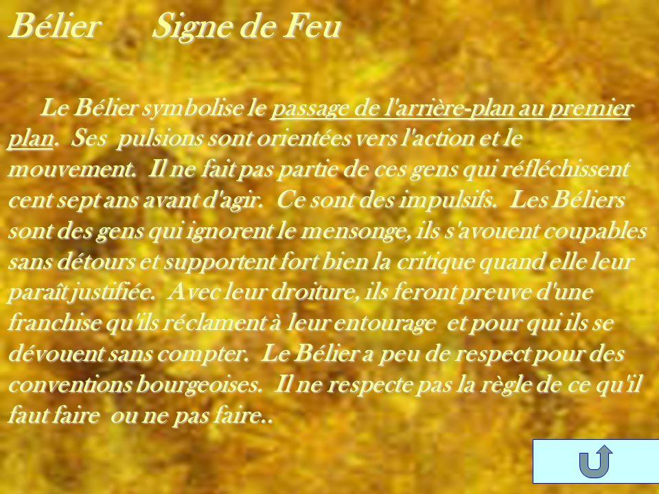 Bélier Signe de Feu