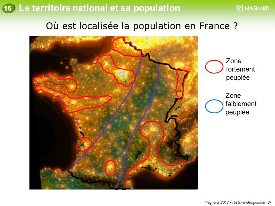 Où est localisée la population en France