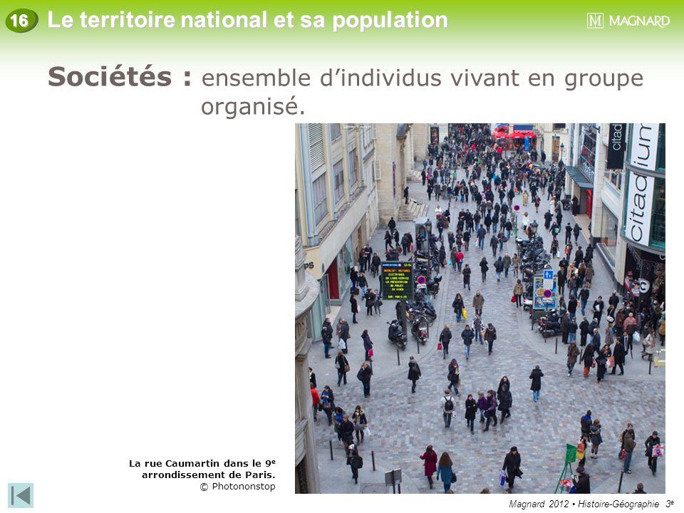 Sociétés : ensemble d'individus vivant en groupe organisé.