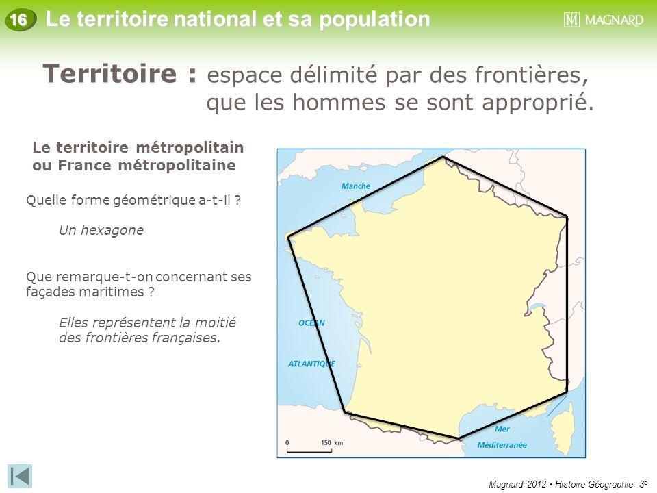 Territoire : espace délimité par des frontières,