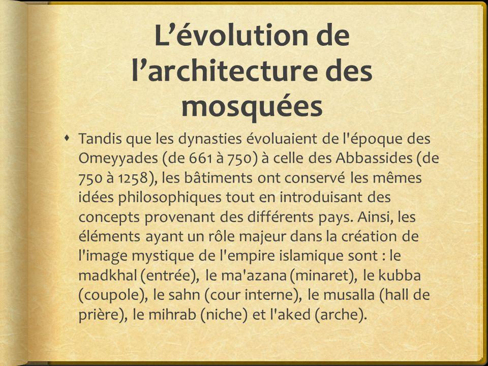 L'évolution de l'architecture des mosquées