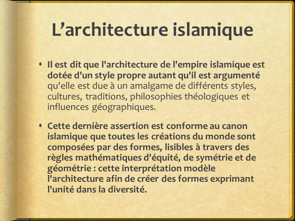 L'architecture islamique