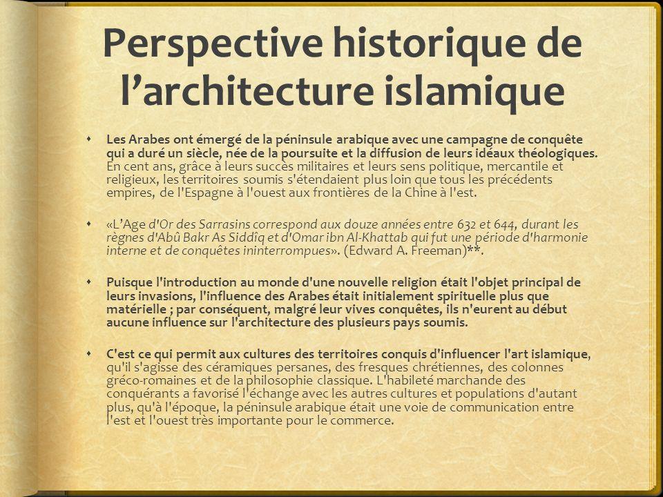 Perspective historique de l'architecture islamique