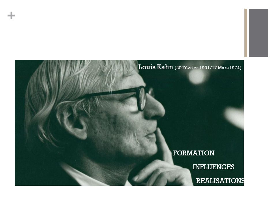 Louis Kahn (20 Février 1901/17 Mars 1974)