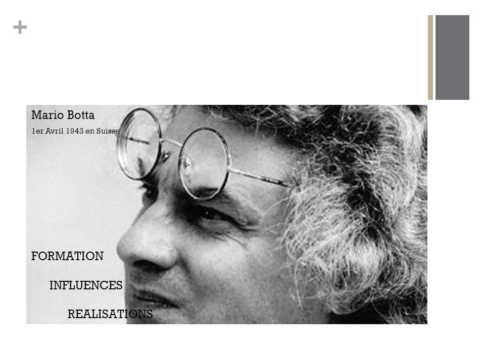 Mario Botta 1er Avril 1943 en Suisse FORMATION INFLUENCES REALISATIONS