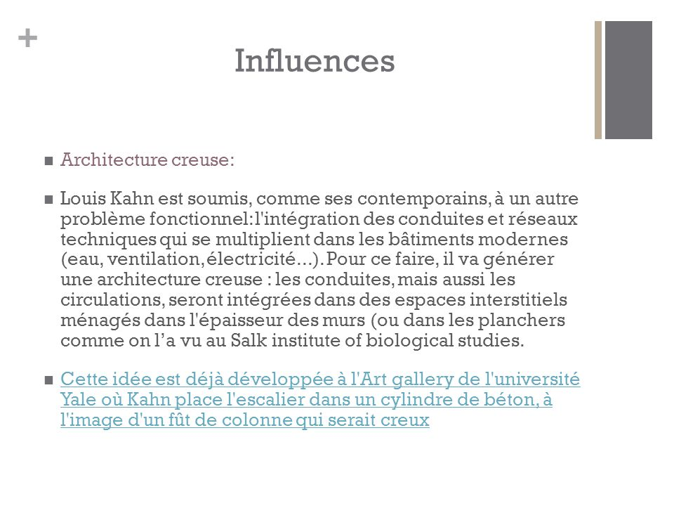 Influences Architecture creuse: