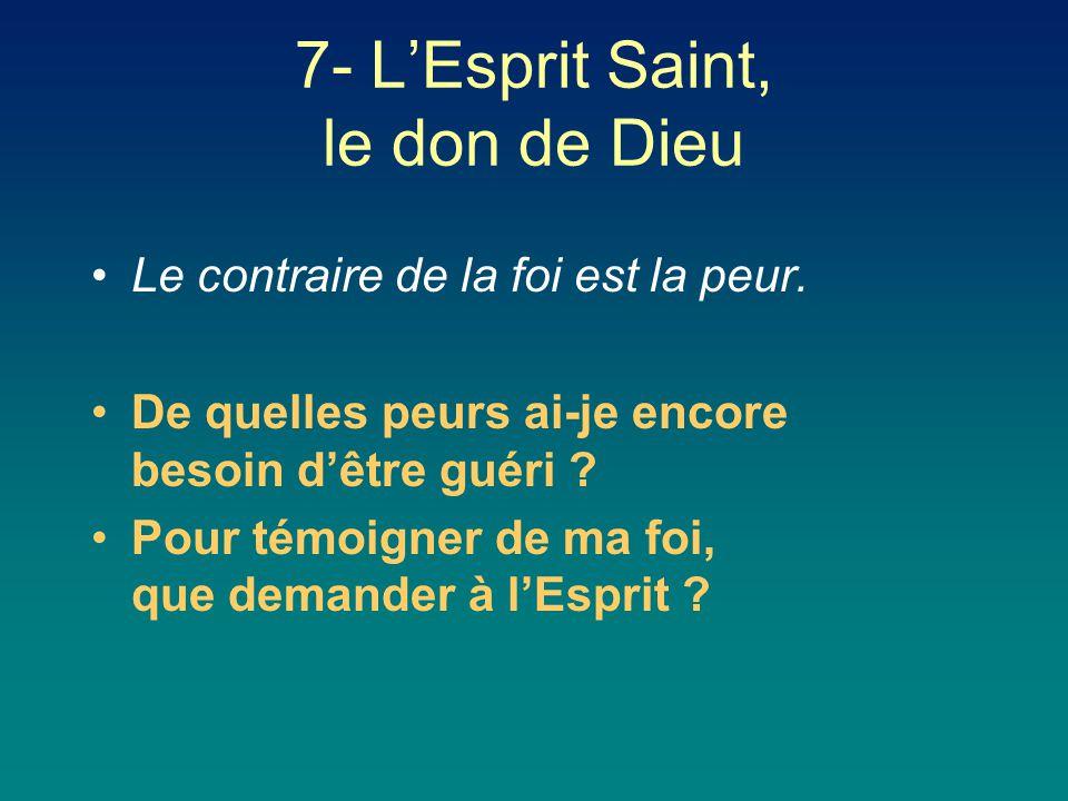 7- L'Esprit Saint, le don de Dieu