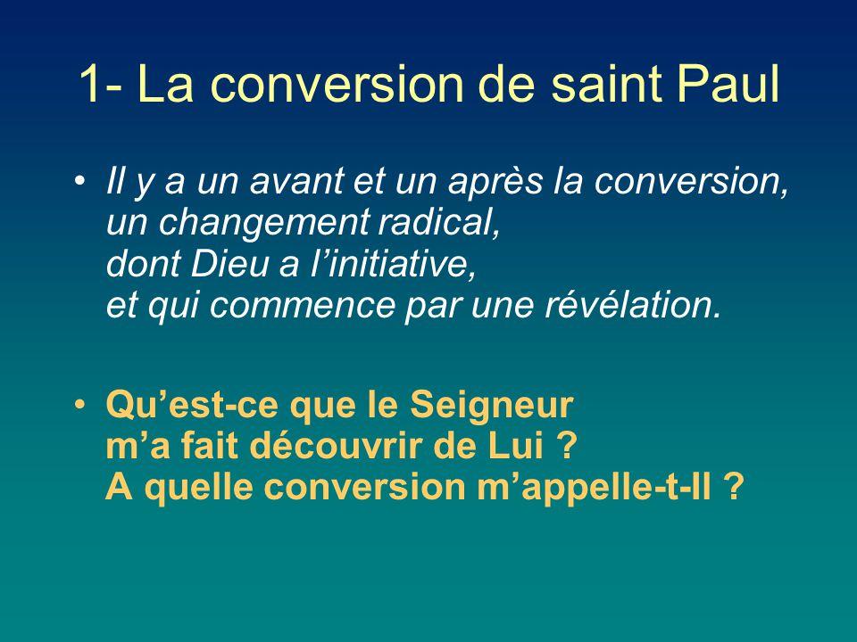 1- La conversion de saint Paul