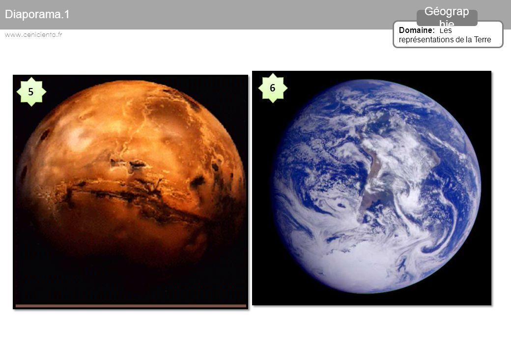 Diaporama.1 Géographie 6 5 Domaine: Les représentations de la Terre