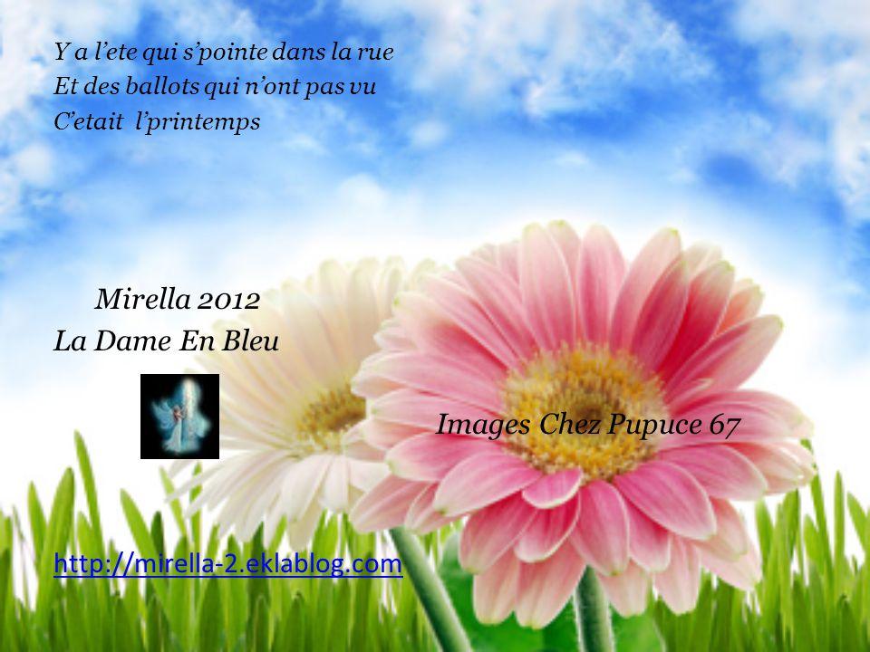 Mirella 2012 La Dame En Bleu Images Chez Pupuce 67