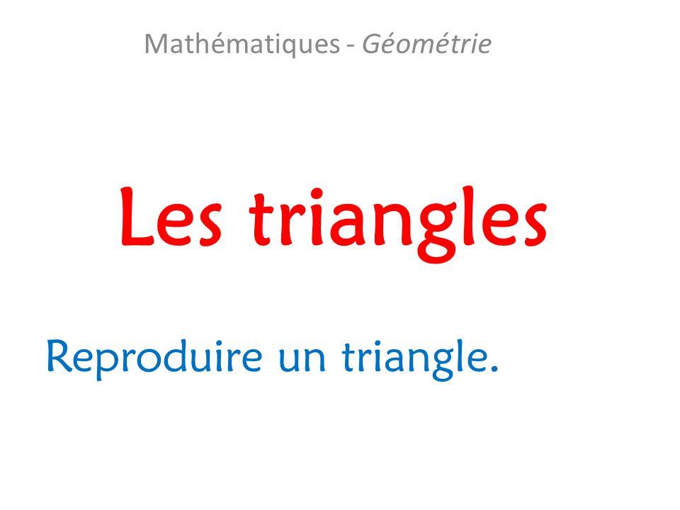 Mathématiques - Géométrie