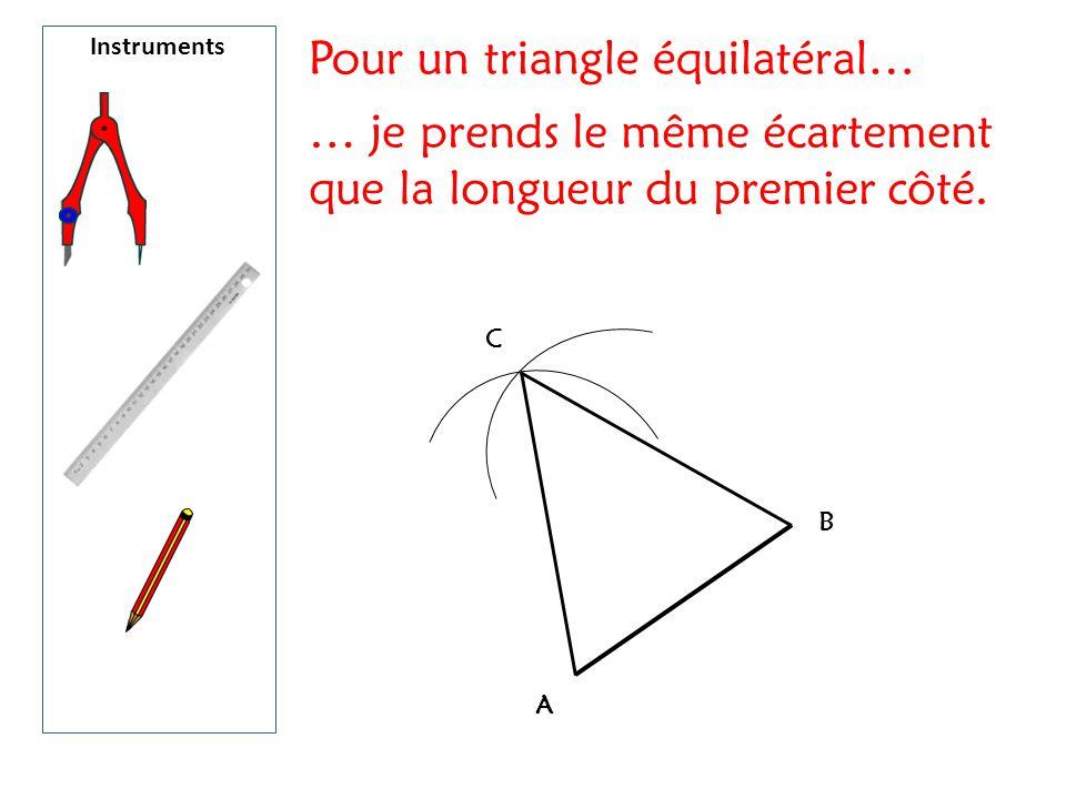 Pour un triangle équilatéral…