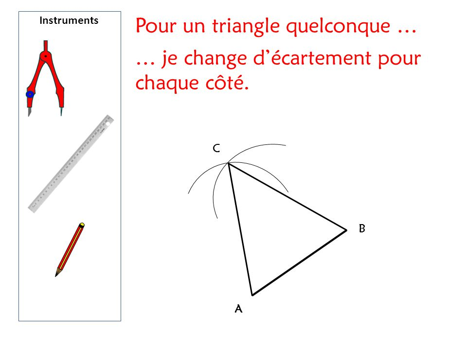 Pour un triangle quelconque …