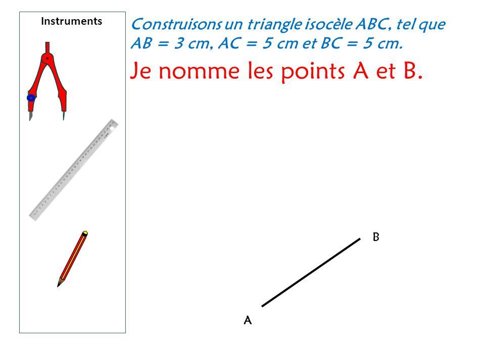 Je nomme les points A et B.