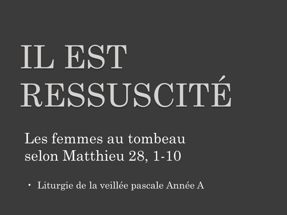 Il est ressuscité Les femmes au tombeau selon Matthieu 28, 1-10